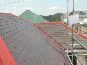 外装工事:屋根 シーラー塗布後