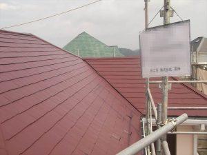 外装工事:屋根 施工後