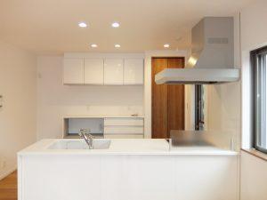 新築工事:オープンキッチン