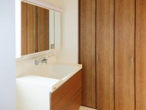 新築工事:洗面化粧台