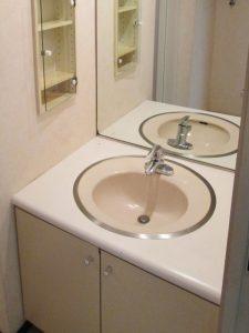 [マンションリフォーム]洗面化粧台:施工前