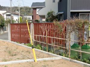 外構フェンス:施工前[外構・外部工事]
